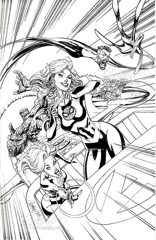 The $55,000 Original Cover Art of J Scott Campbell, on Display in New York City
