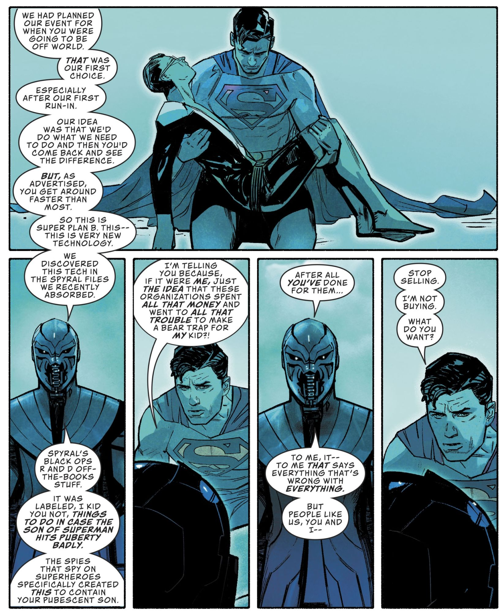 Both Superman #16 and Event Leviathan #5 Have a Thing About Superboy Going Through Puberty