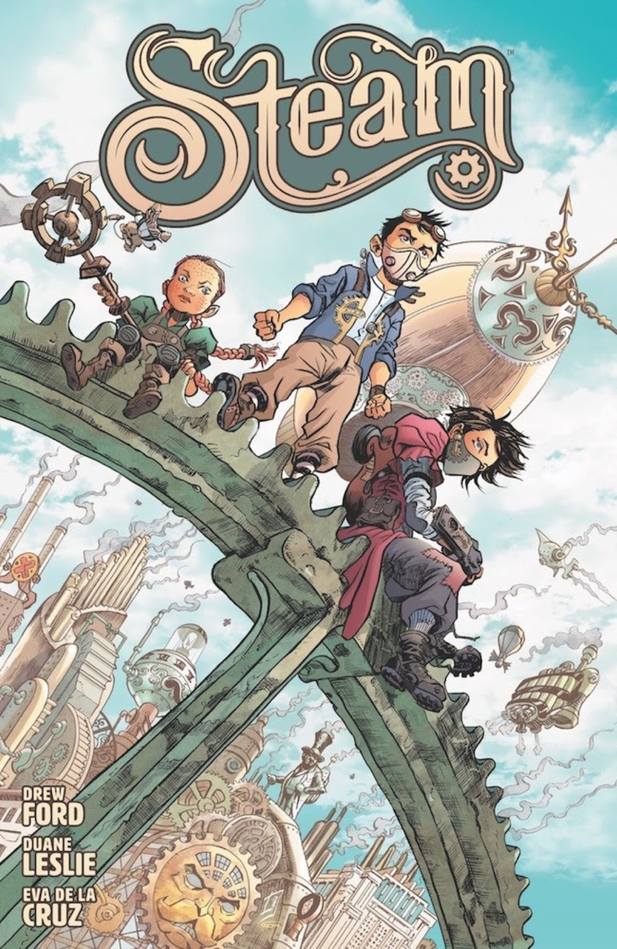 Drew Ford, Duane Leslie, Eva de la Cruz Launch All-Ages Steampunk Adventure at Dark Horse in 2020