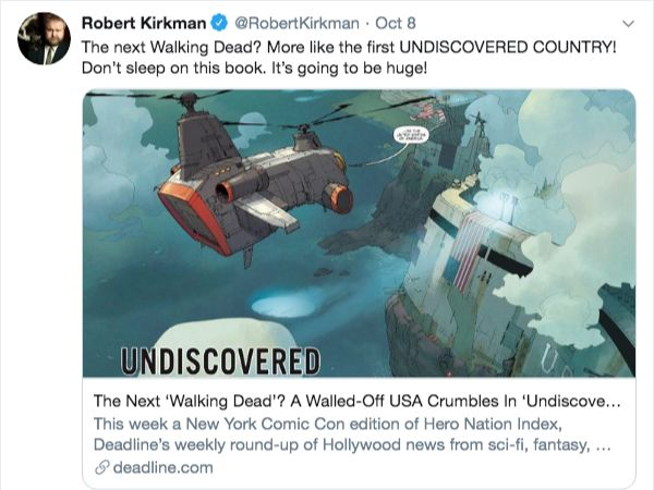 Undiscovered Country #1 is Image Comics' Biggest Genuine Launch in Five Years With 83,000 Pre-Orders