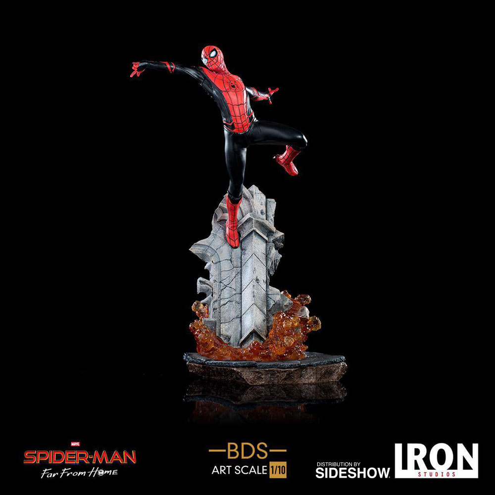 Spider-Man Is Far From Home & Gets His Own Iron Studios Statue