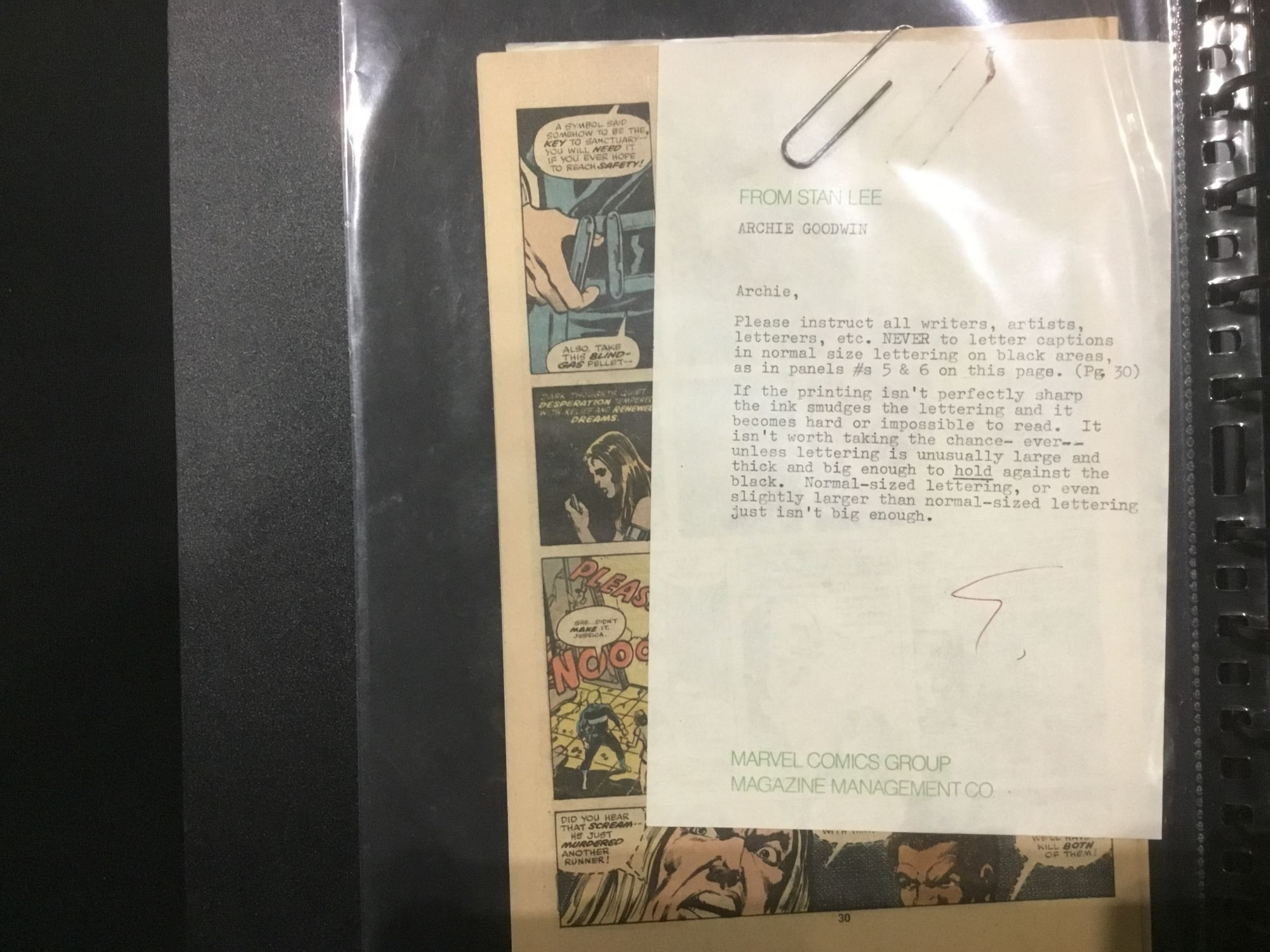 The Jim Shooter Files – Stan Lee Tells You How to Spell Super Hero and Comic Book – And Watch Out For White Lettering…