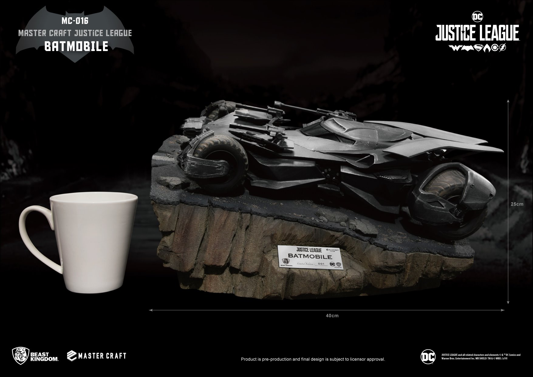 "Batmobile from ""Justice League"" Drives on in with Beast Kingdom"