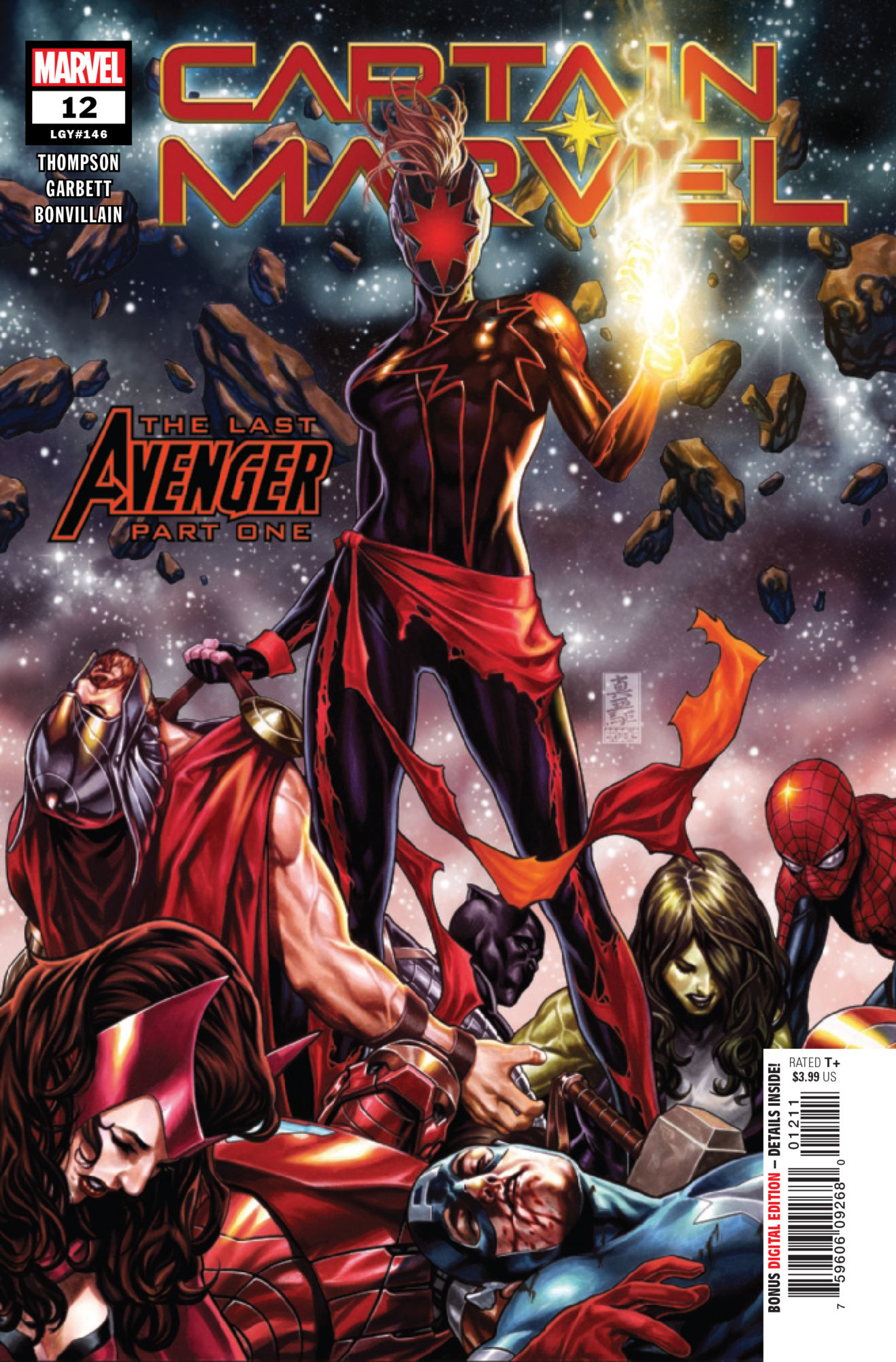 Captain Marvel Kick's Thor's Butt in Captain Marvel #12 [Preview]