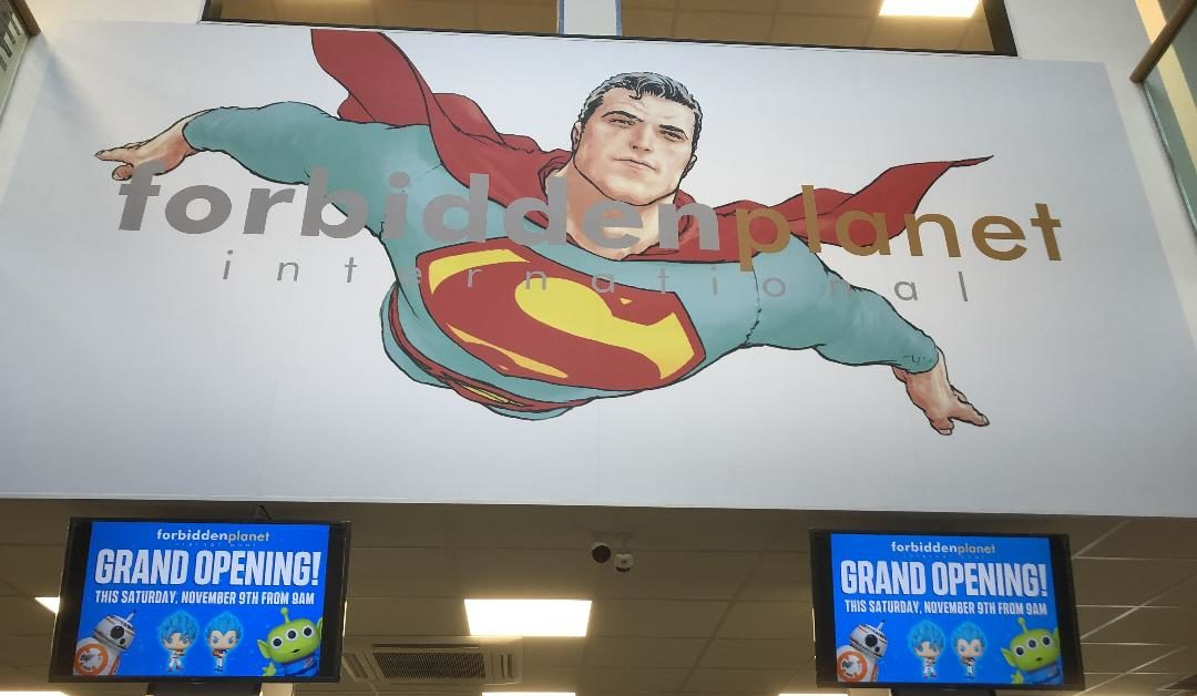 Frank Quitely Designs Fill New Forbidden Planet Comics Store, Opening in Glasgow Tomorrow - Bleeding Cool News