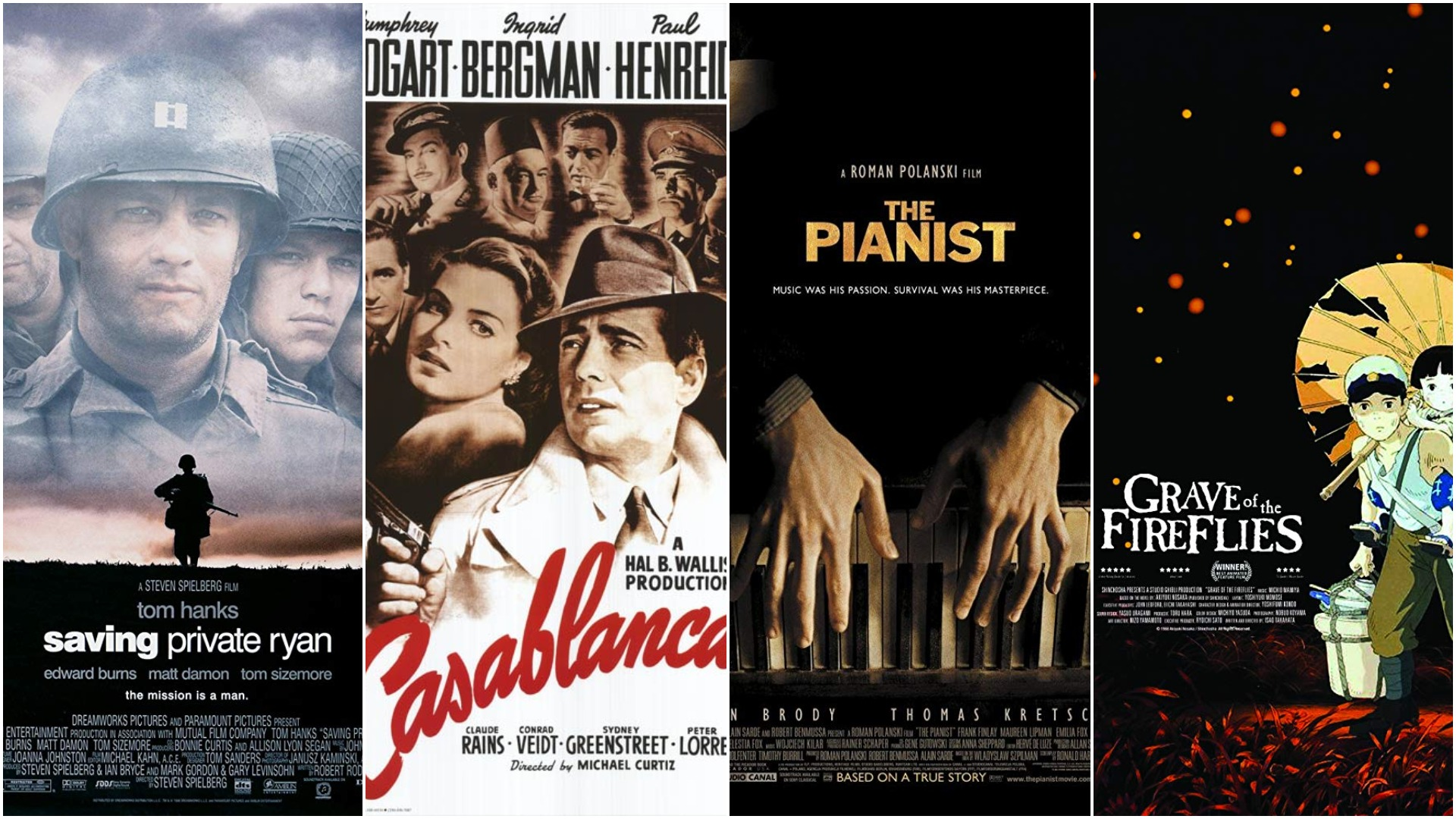 "From ""Casablanca"" to ""Grave of the Fireflies"": Twelve Must See WWII Films"