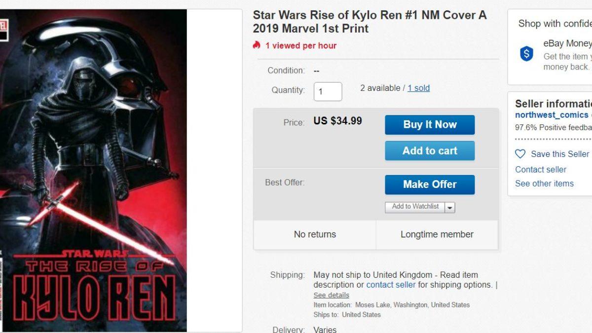 Star Wars Rise Of Kylo Ren 1 Goes Mad On Ebay Over Ben Snoke Buddy Origin