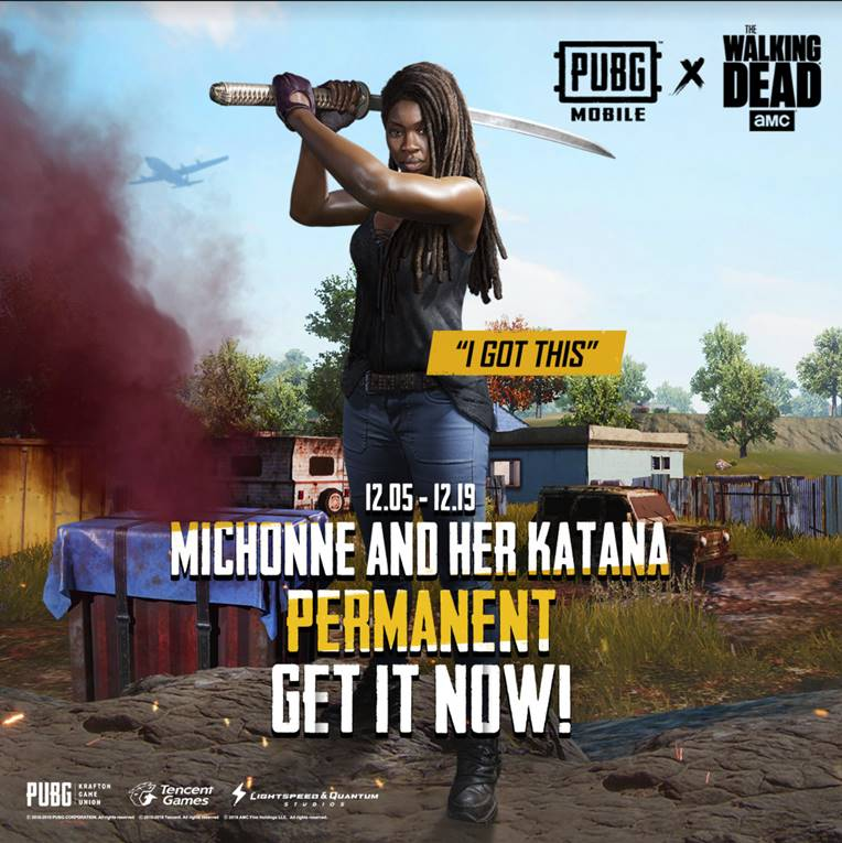 """PUBG Mobile"" Receives Negan & Michonne From ""The Walking Dead"""