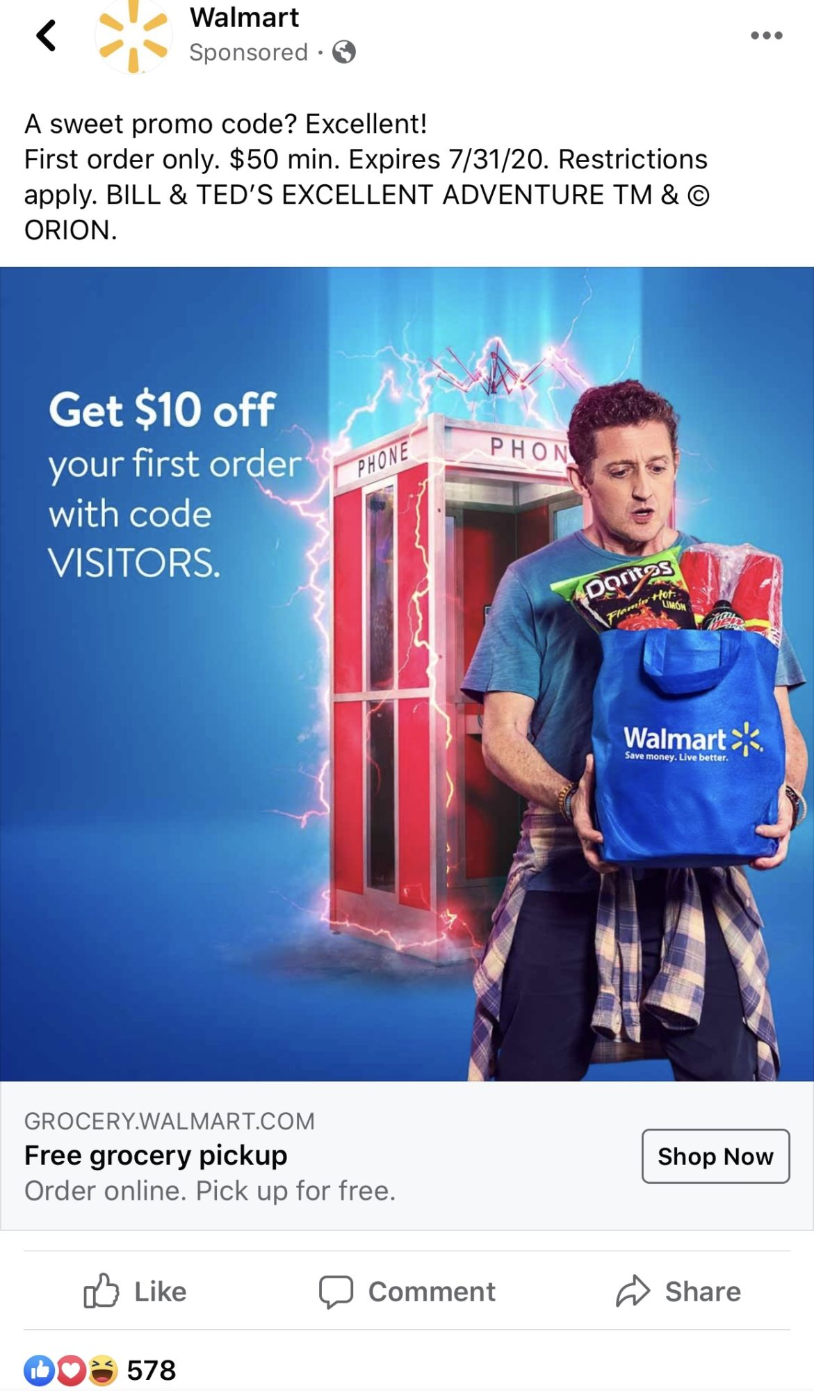 Bill and Ted's New Journey Includes Advertising For Walmart