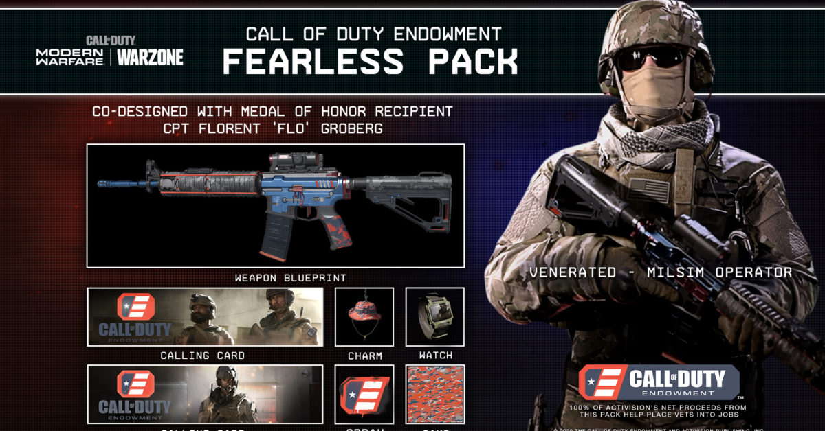 Call of Duty Endowment Reveals Fearless Pack & Warzone T-Shirt