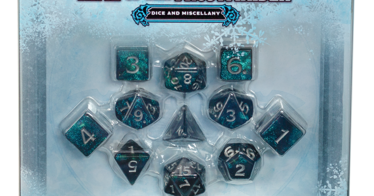 D&D Reveal The Icewind Dale Dice & Miscellany Set