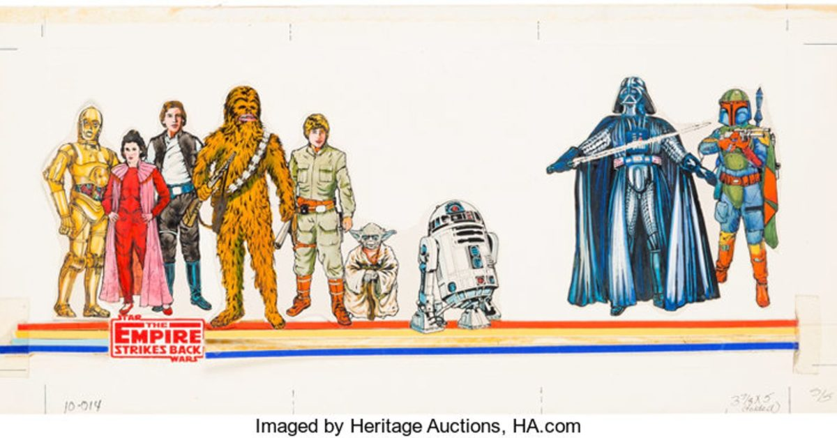 Rare Star Wars ESB Birthday Card Art On Auction At Heritage Right Now