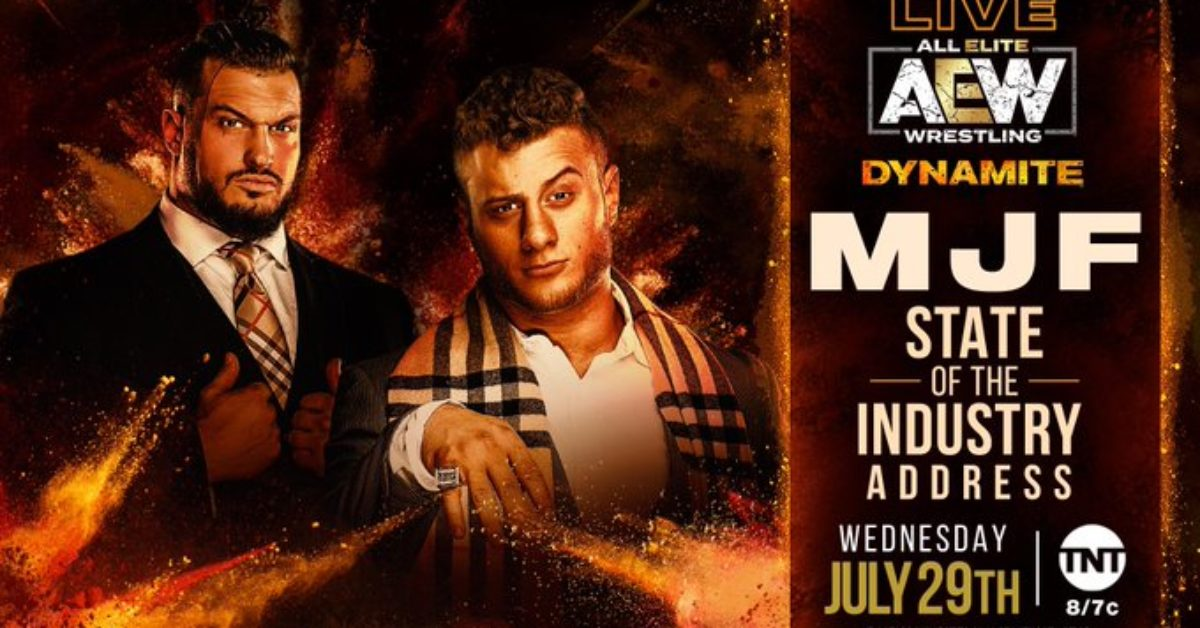bleedingcool.com: MJF to Deliver State of the Industry Address on AEW Dynamite This Week