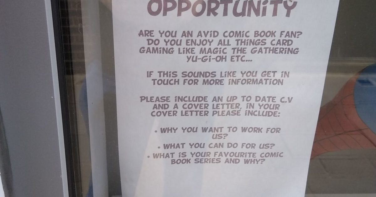 Piranha Comics Hiring Staff/Opening Store in North-West London