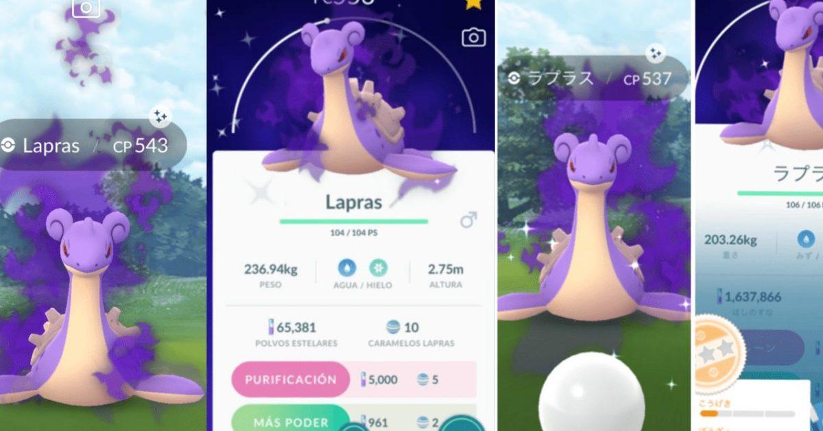 Some Shiny Shadow Lapras Sneaks Into Pokémon GO