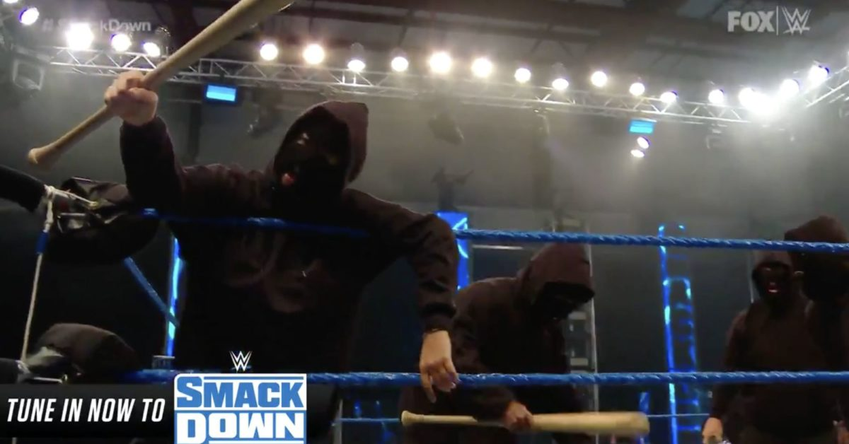 Retribution Arrive on Smackdown, Vandalize Ring in Hoodies and Masks