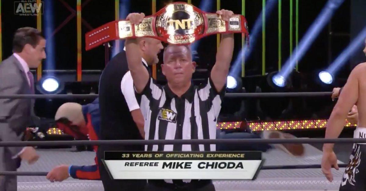 Mike Chioda Debuts on AEW Dynamite to Ref Cody/Scorpio Sky Match