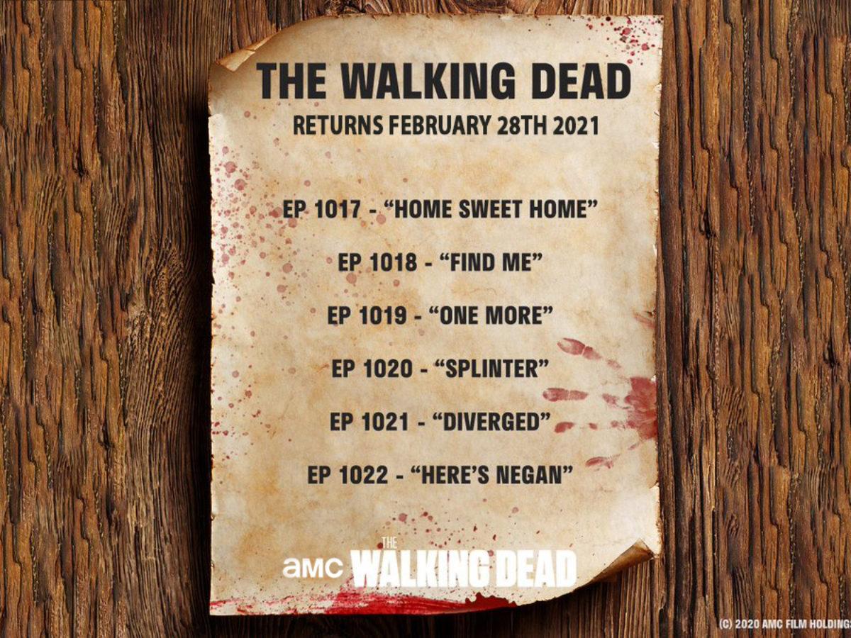 Walking Dead 2022 Calendar.The Walking Dead Returns Feb 2021 Amc Releases Episodes Details