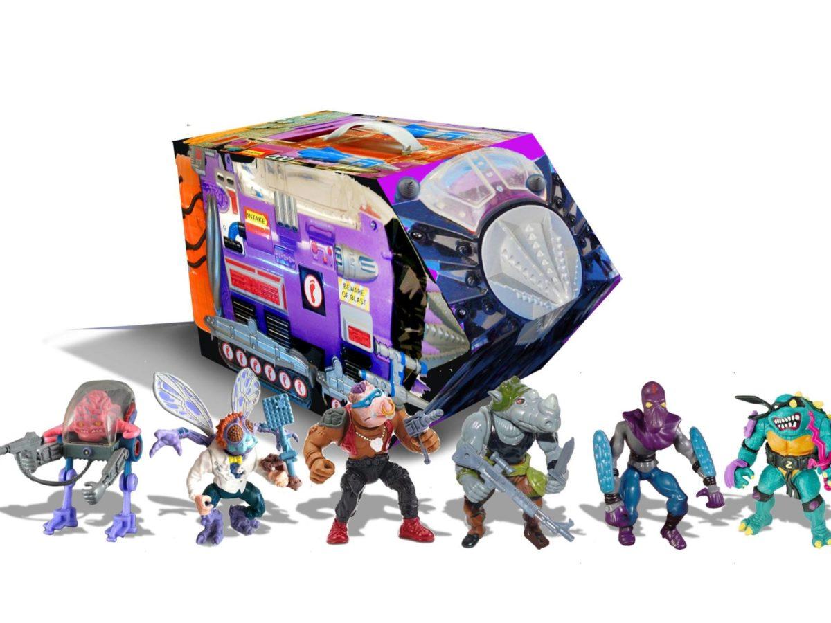 Teenage Mutant Ninja Turtles TMNT Vehicle MUTANT MODULE GUN Original Part