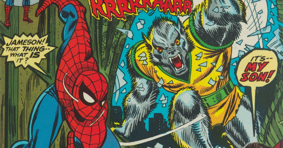 The Mark of the Man-Wolf in Amazing Spider-Man #124, Up for Auction - Bleeding Cool News