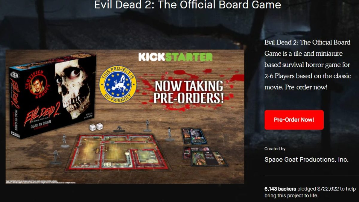 Kickstopped: Space Goat's $1 Million Evil Dead 2 and Terminator Board Games